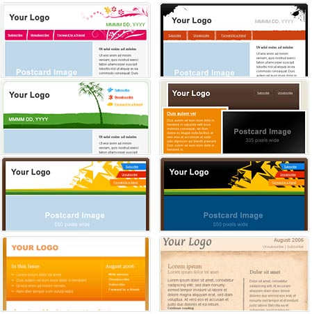 Free HTML Email Newsletter Templates Patternhead - Free digital newsletter templates