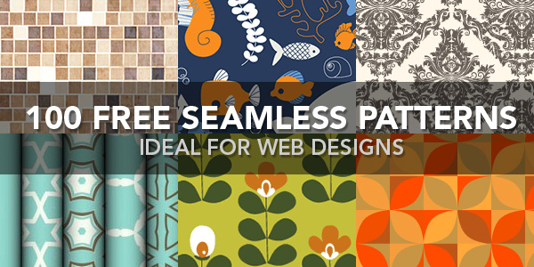 Over 100 free seamless patterns for web designs