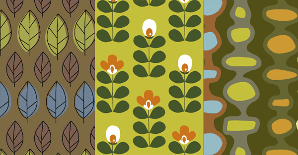 Retro Nature Seamless Patterns