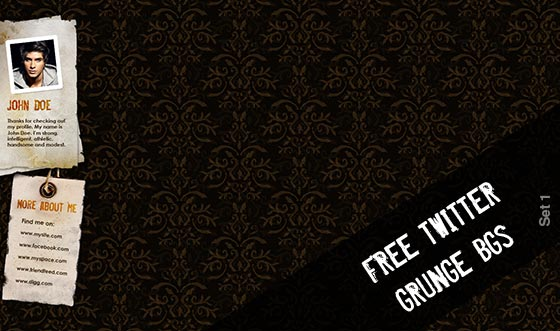 6 completely free hi-res grunge style twitter backgrounds