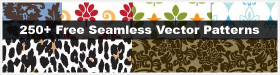 Over 250 free seamless vector patterns