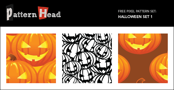 Free halowwen pumpkin vector patterns from Patternhead.com