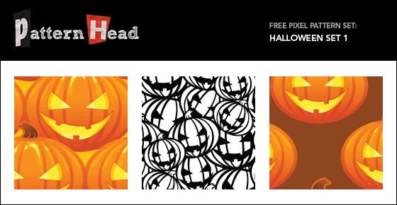 Free halowwen pumpkin vector patterns from Patternhead.com