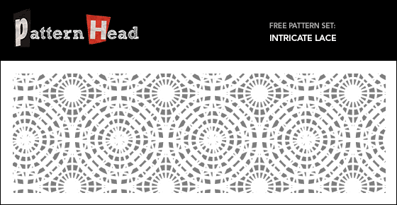 Free lace vector patterns from Patternhead.com