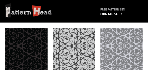 Free modern ornatel repeat patterns from Patternhead.com