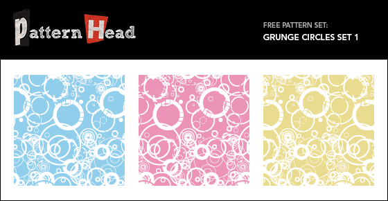 Free grungy circle vector patterns from Patternhead.com