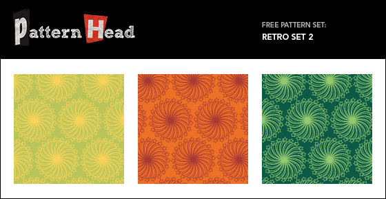 Free retro style vector repeat patterns from Patternhead.com