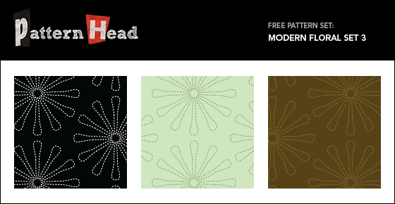 Free modern floral repeat patterns from Patternhead.com