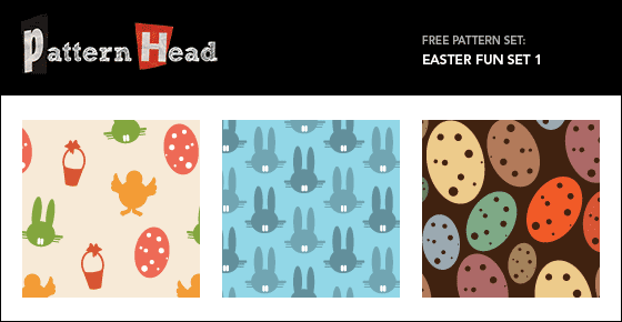 Free modern Easter repeat patterns from Patternhead.com