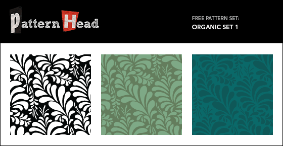 Free organic vector repeat patterns from Patternhead.com