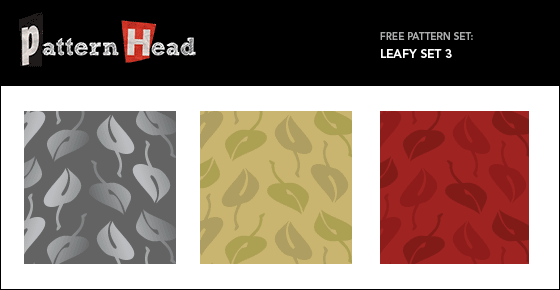 Free leafy vector patterns from Patternhead.com