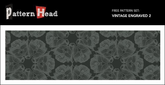 Free vintage antique style repeat pattern from Patternhead.com
