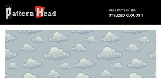 Free stylized cloud vector pattern from Patternhead.com
