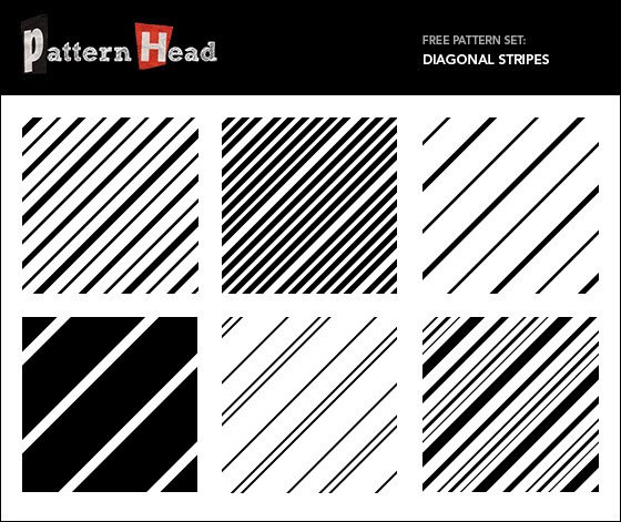 Free diagonal stripe repeat patterns from Patternhead.com