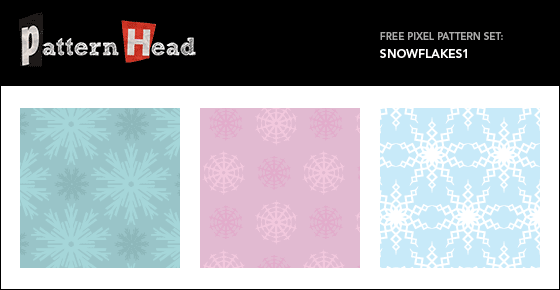 Free snowflake vector patterns from Patternhead.com