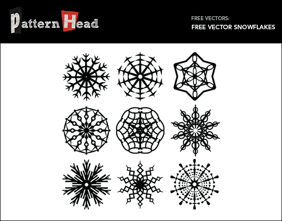 Free vector snowflakes from patternhead.com