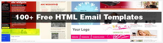 Over 100 free email newsletter templates