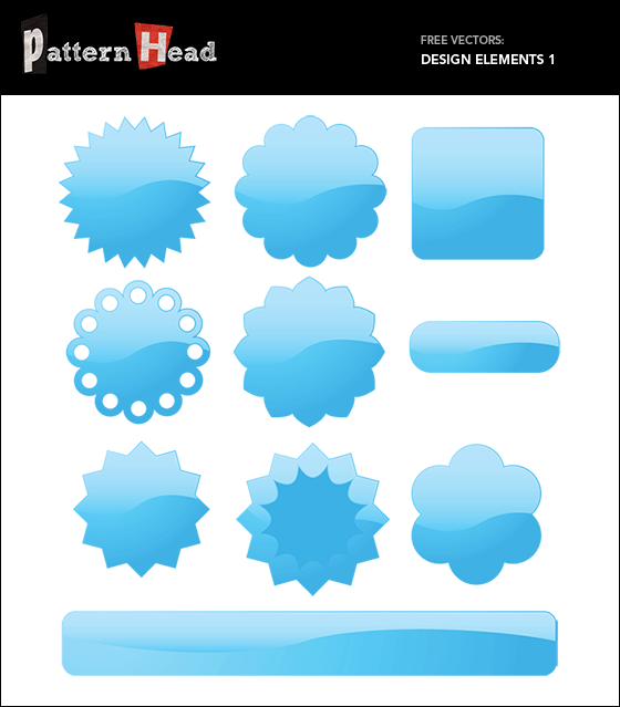 Free vector design elements at pattern8.com