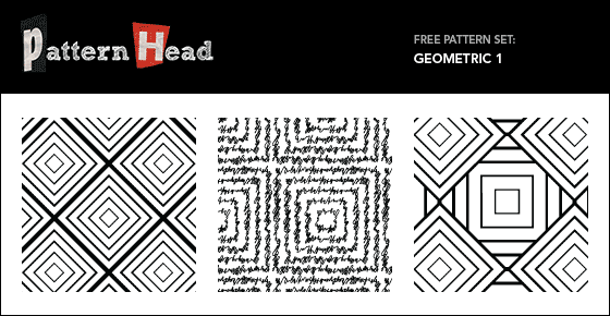 Free geometric style repeat patterns from Patternhead.com