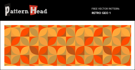 Free retro pattern from Patternhead.com