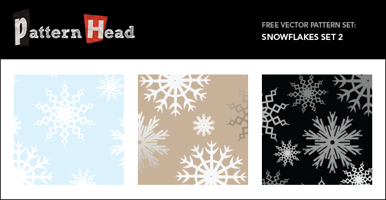 Free seamless vector snowflake patterns from Patternhead.com