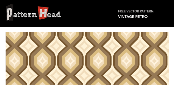Free vintage retro pattern from Patternhead.com
