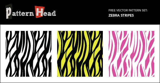 Free zebra stripe vector patterns from Patternhead.com