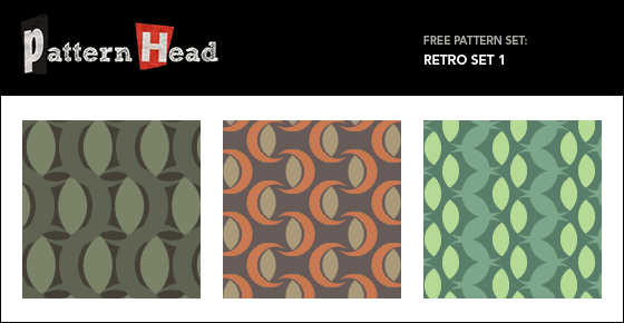 Free retro style vector patterns from Patternhead.com