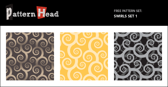 Free modern swirl abstract repeat patterns from Patternhead.com