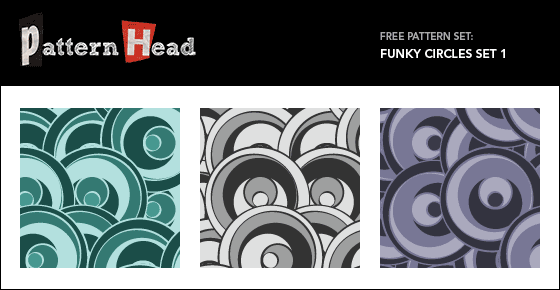 Free funky circle repeat patterns from Patternhead.com