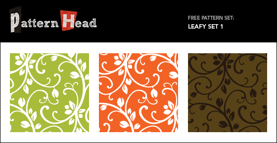 Free leafy repeat patterns from Patternhead.com