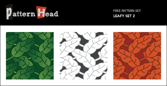 Free leafy vector repeat patterns from Patternhead.com