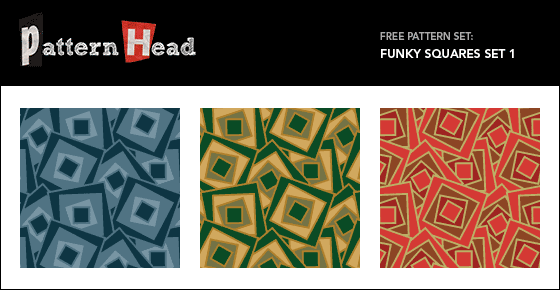 Free funky squares vector repeat patterns from Patternhead.com