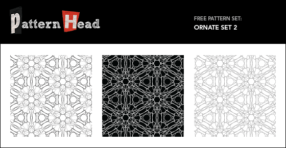 Free ornate vector repeat patterns from Patternhead.com