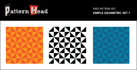 Free geometric vector patterns from Patternhead.com