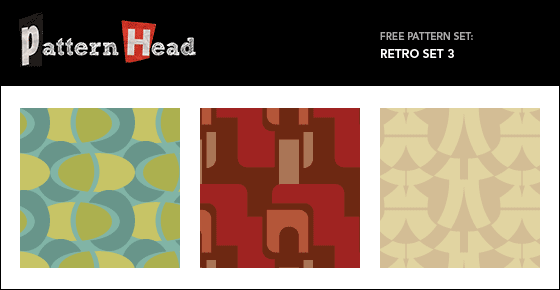 Free retro style repeat patterns from Patternhead.com