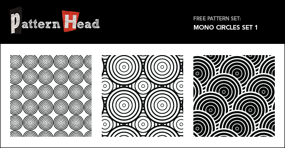 Free geometric circle vector patterns from Patternhead.com
