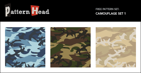 Free camouflage vector patterns from Patternhead.com