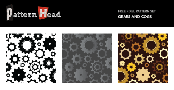 Free steampunk vector patterns from Patternhead.com
