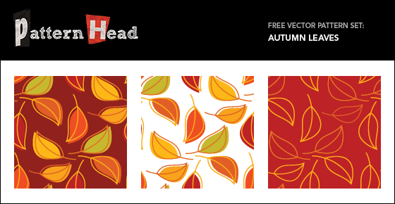 Free Autumn Leaf patterns from Patternhead.com
