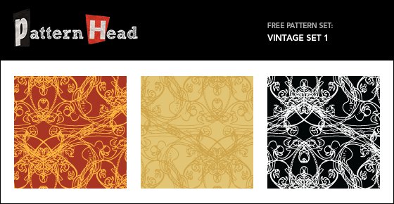 Free vintage style repeat patterns from Patternhead.com